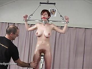 Hairy Bush Redhead On Fuck Pole And Spanked bdsm xxxvideo